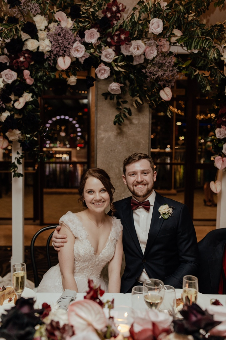 I just wanted to send you a note to say thank you… - …so much for your invaluable contribution to our wedding day. The florals were stunning- such a spectacular colour palette and texture. The venue was absolutely transformed by them into the breathtaking winter wonderland I hoped it would be - thank you so much!We have received so many compliments on the florals, particularly the centre pieces and arch...We have been so impressed with your service, and how attentive you have been to every detail from the beginning. Please pass our thanks on to all your team members from the day - their work was flawless. Needless to say, I will not hesitate to recommend your business to all our friends!- Maddy & Ben - June 2018