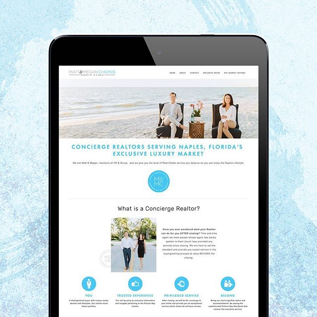 Happy website launch day to @thenaplesinsiders 🥳 Matt and Megan Chionis work in the luxury real estate market of Pelican Bay in Naples, Florida. We've been hard at work the past couple months and I can not tell you how excited I am to finally share their modern and sophisticated website and branding. Warning: website may create a sudden desire to plan your next vacation ASAP 😉 Go check them out at www.naplesconciergerealtors.com