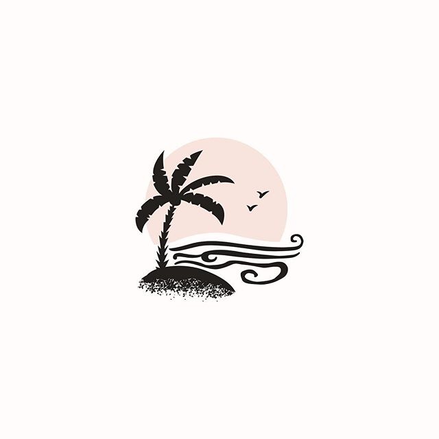 Working on another illustrated logo this week! It's been gloomsville here in Missouri the past few days and this little guy has me dreaming of sunshine and a warm ocean breeze 🏝 He didn't make the cut - but I still like him 😌