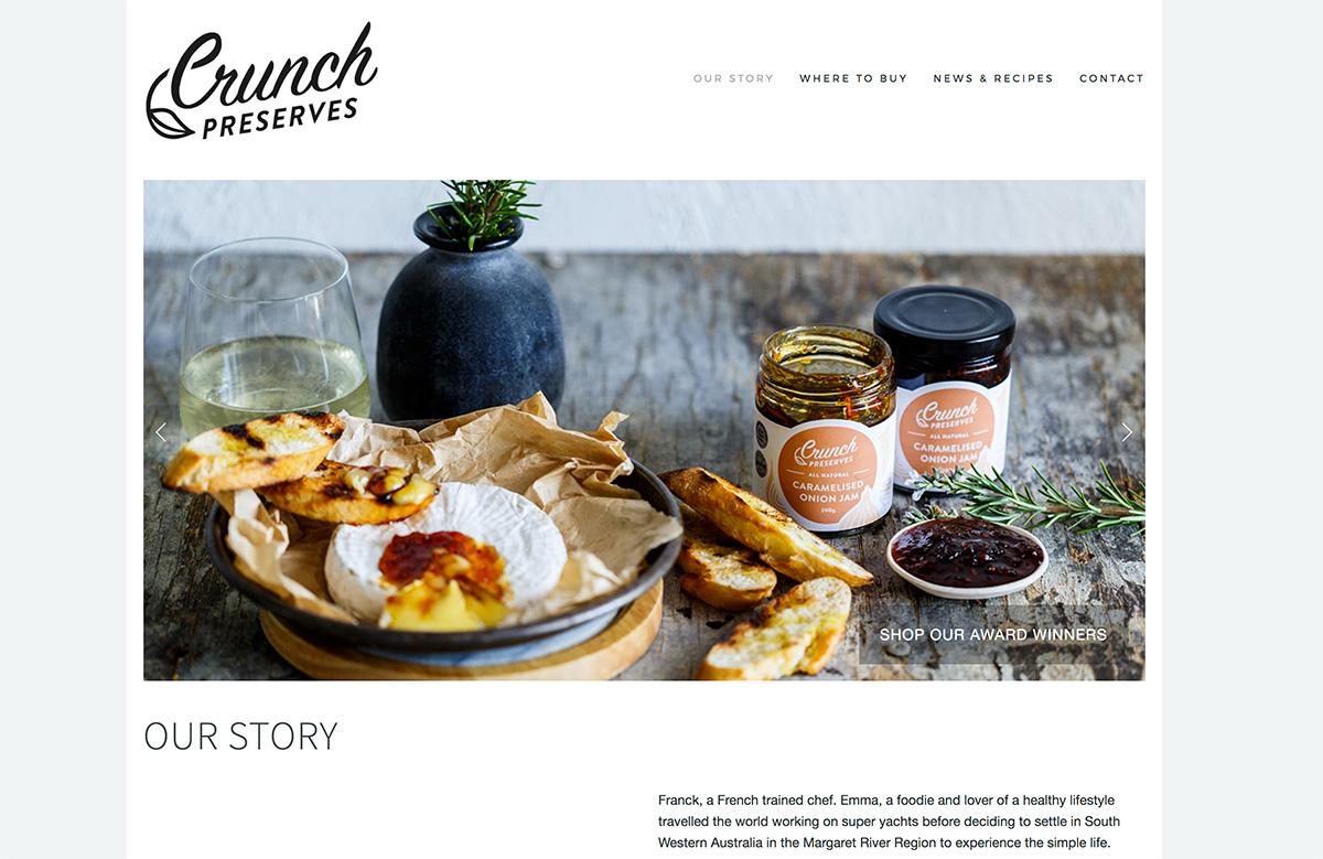 Website Design for Crunch Preserves
