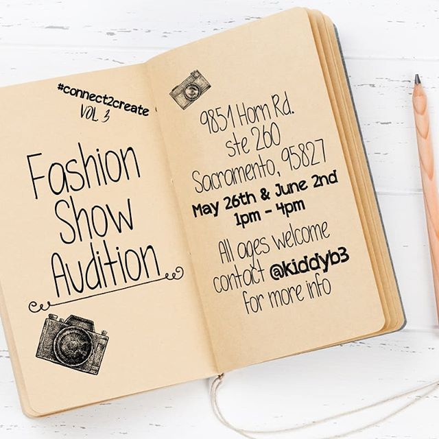 #connect2create vol 3 Fashion show & Mixer!  Attention Models!  Auditions this Sunday and Next. All ages welcome.  If you know a designer that would want to get involved, contact @kiddyb3  FOR ALL INFO CONTACT @kiddyb3  #esketit  #sacramentophotographer #Sacramento #sacramentomodel #downtownsac #rosevillemodel #folsommodel #oakparkmodel #southsacmodel #elkgrovemodel #sacramentodesigner #sacramentomua #citrusheightsmodel #ranchocordovamodel #westsacramentomodel #westsacbestsac #natomasmodel #norcalmodel #oaklandmodel #sfmodel #modeling #rocklinmodel #modeling #bayareamodel #stocktonmodel