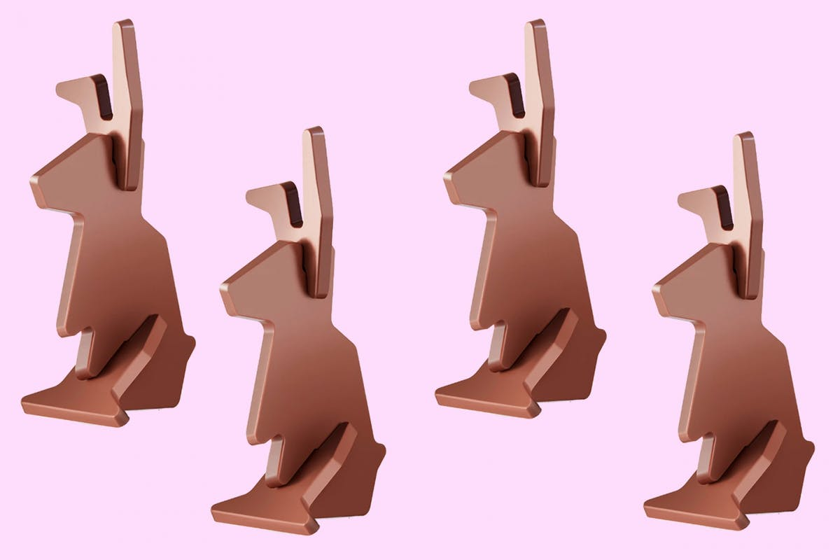 The VARKANSLA flat-pack Easter Bunny from IKEA doesn't need an Allen key for assembly.