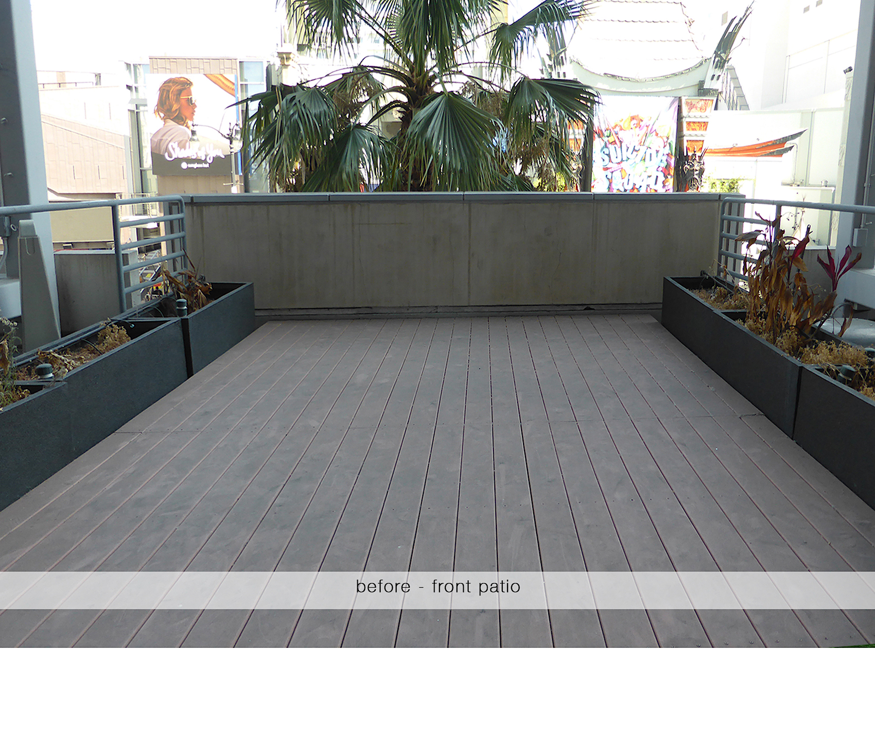 before - front patio