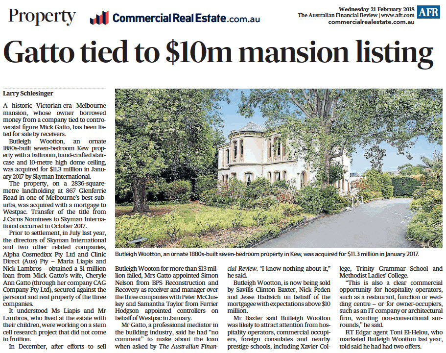 180221 - Gatto Tied to $10m mansion listing - 867 Glenferrie Road Kew.jpg