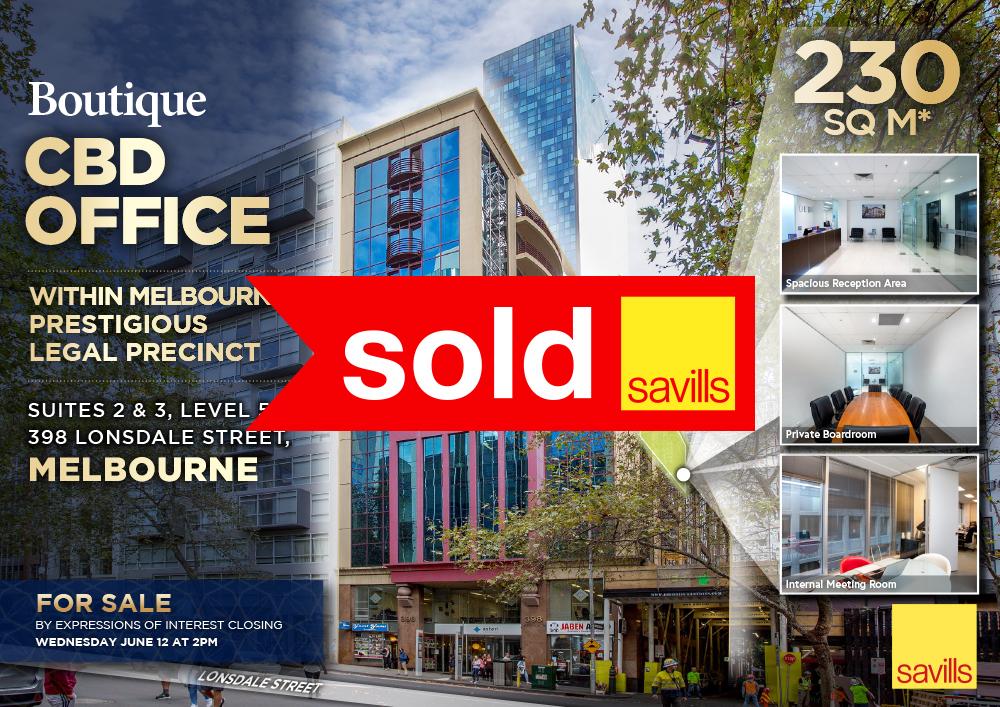 Suites 2 & 3, 398 Lonsdale Street, Melbourne