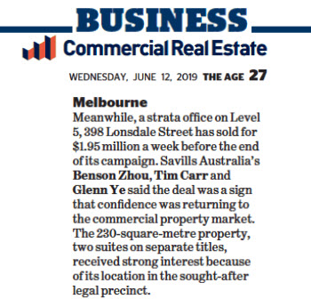 190612 - Level 5, 398 Lonsdale Street, Melbourne, The Age.jpg