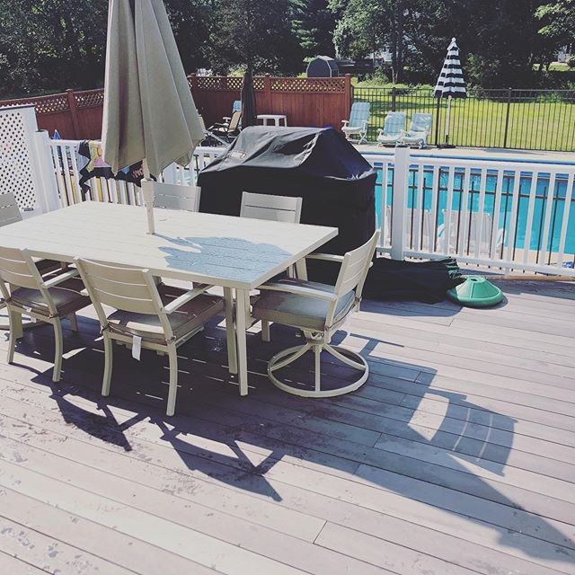 #Decks seem to be one of the hottest topics, outdoor entertainment is huge! Do you resurface or just rebuild?  Reach out to our team and we will discuss the pros and cons of either situation.  #construction #njcontractor #decks #composite #azek #moistureshield #fiberon #hgtv