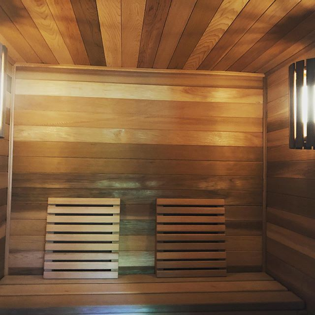 #sauna personal sauna installed for one of our clients in their finished basement.  #construction #designbuild #reno #hgtv