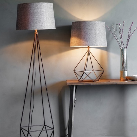A feature piece for your interior. The stylish Mauro floor lamp with a neutral shade #homedecor #lighting #nightsgettingshorter #ambience #eyecatching #architectural #artandaccessories @art_and_accessories Available to order