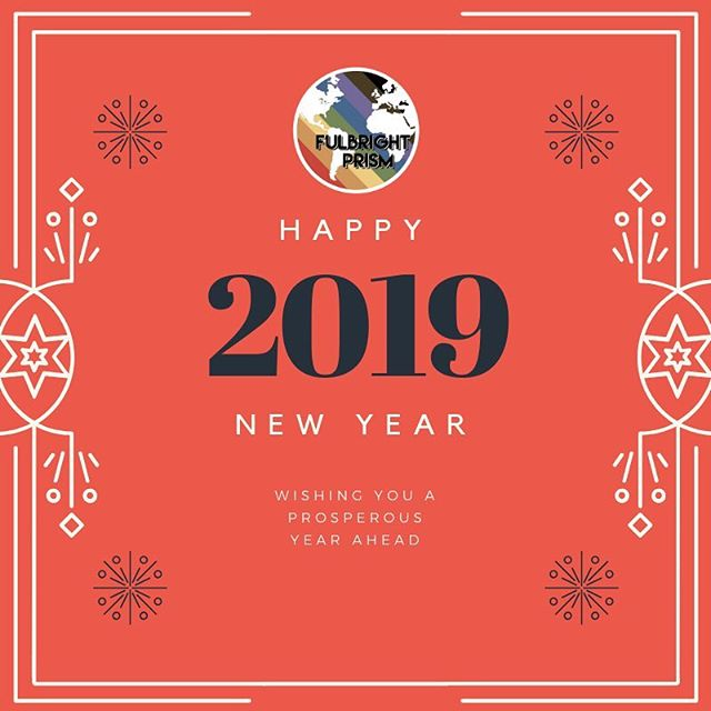 We wish all our friends and family around the world a very Happy New Year 2019! ⠀⠀⠀⠀⠀⠀⠀⠀⠀ Year 2018 was a big one for us: we were founded as an Instagram page in June, then launched our alumni network in September, and now we are working on becoming a US non-profit and planting chapters around the world. We are excited to see what the new year brings and are grateful for your support. ⠀⠀⠀⠀⠀⠀⠀⠀⠀ #fulbrightprism #outintheworld #fulbright #fulbrightprogram #queerfulbright #LGBTfulbright #lgbt #queer #outandabout