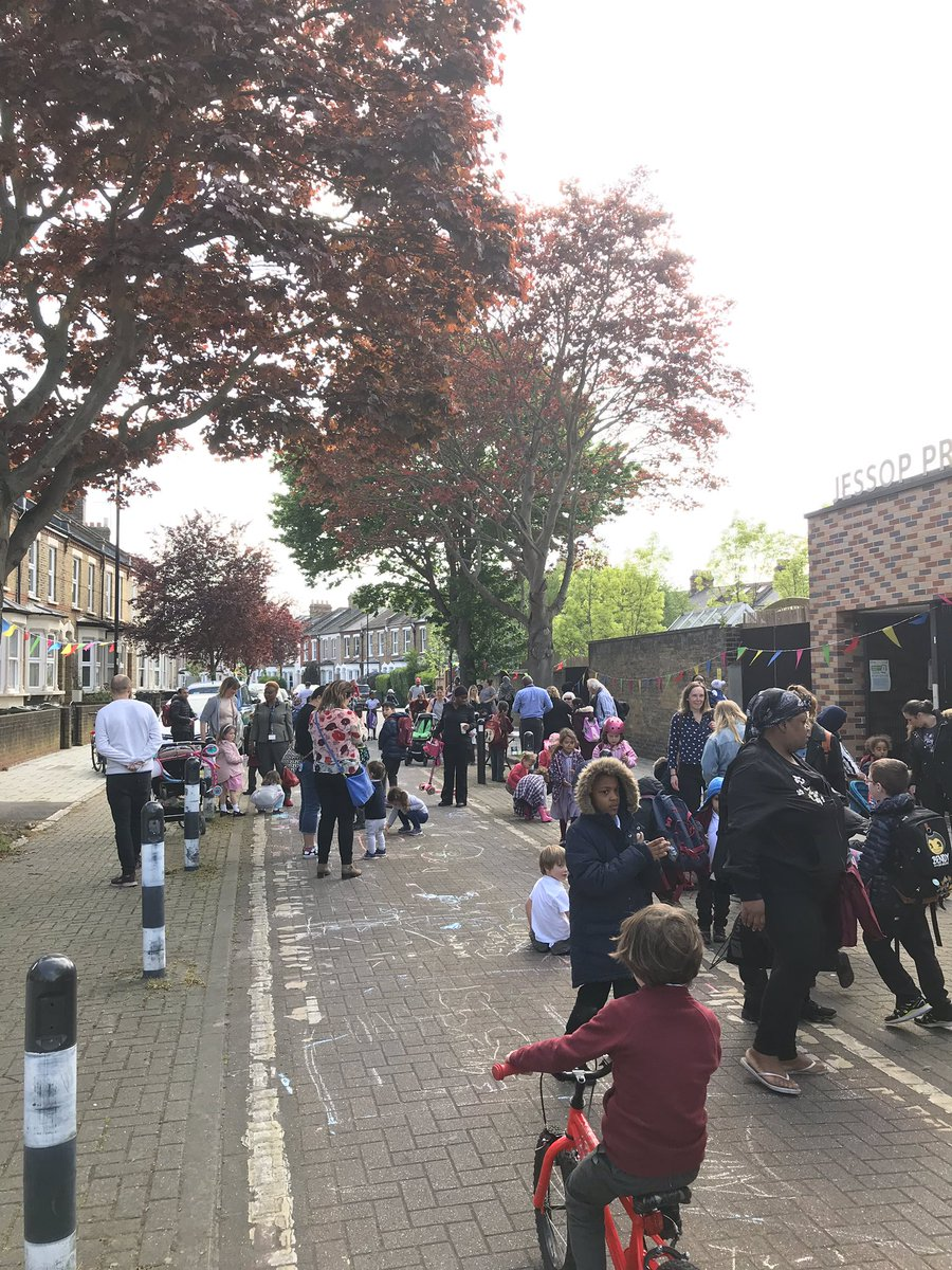 School Streets project at Jessop Primary in Lambeth  © Councillor Claire Holland