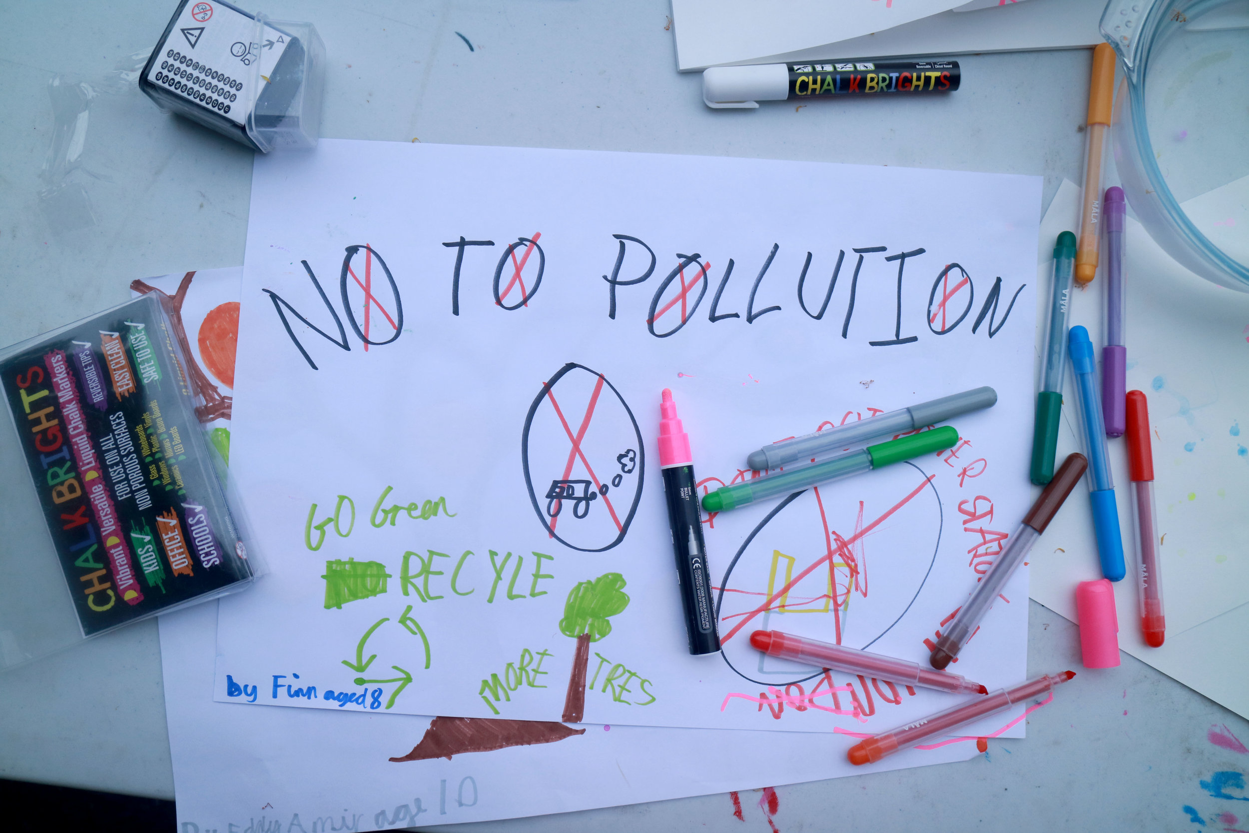 Children's designs at our Clean Air Street party