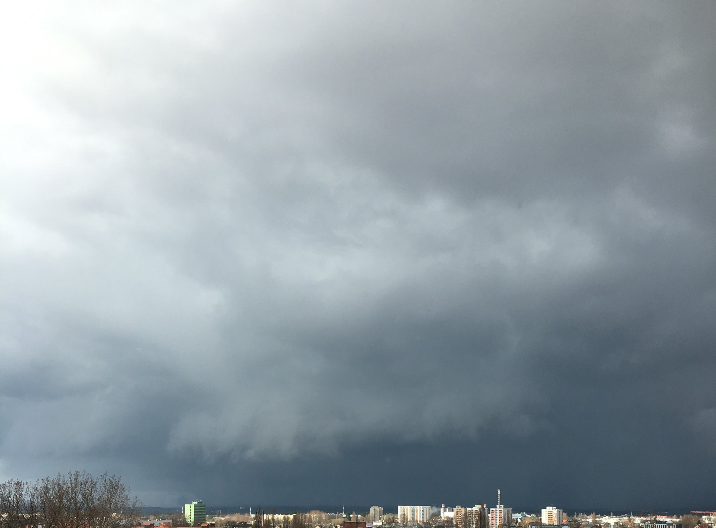 The Storm. It usually comes from the left, bypasses the city in a wide arc and leaves us without a drop of rain