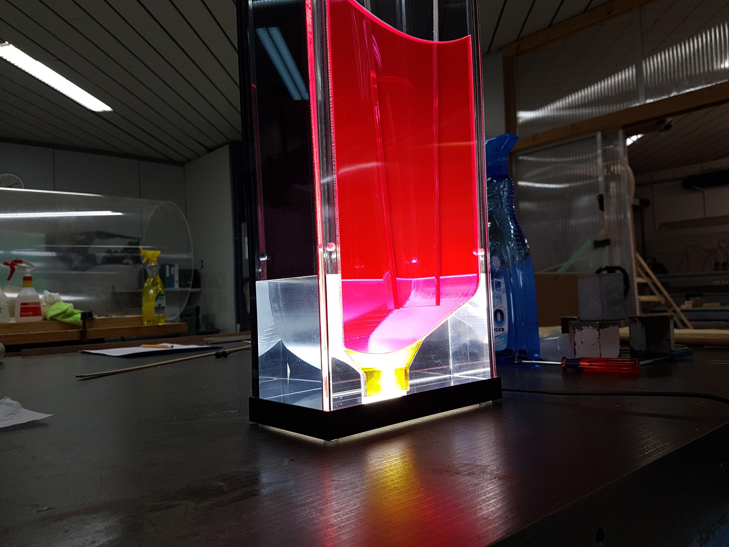 Acrylglas Led-Display