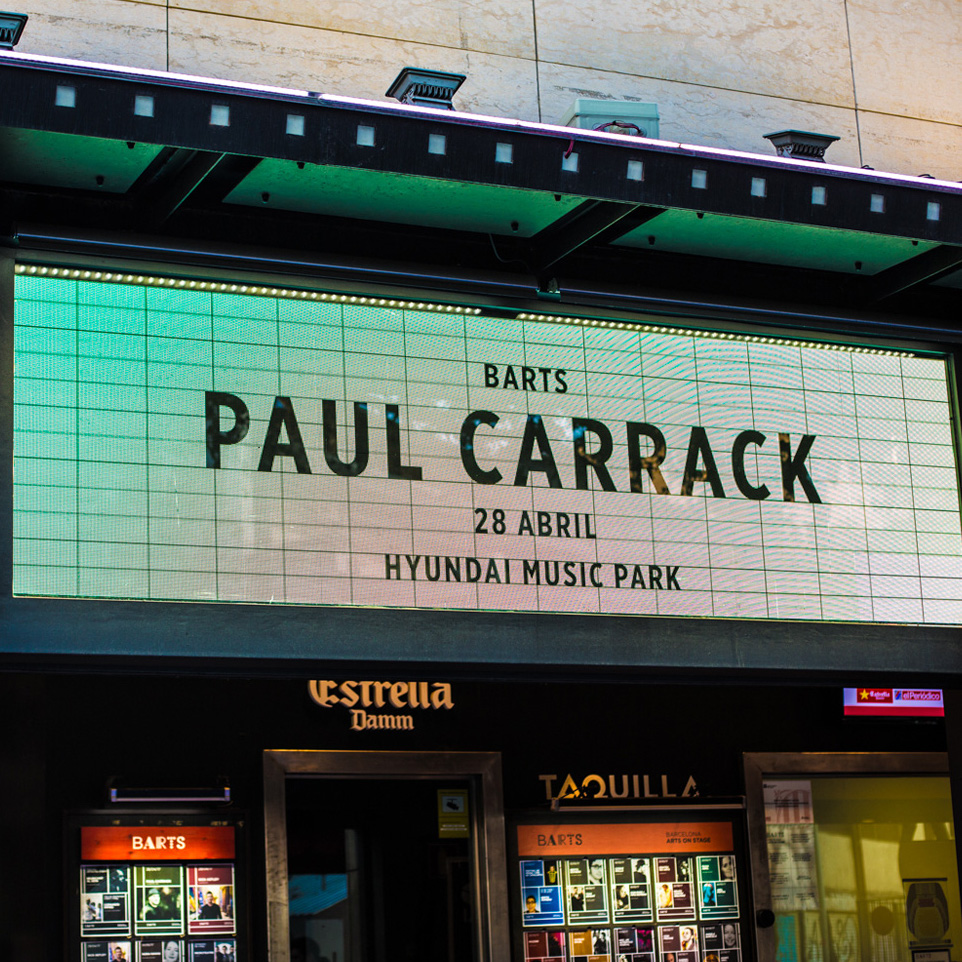 Paul Carrack live at BARTS in Barcelona, 2017