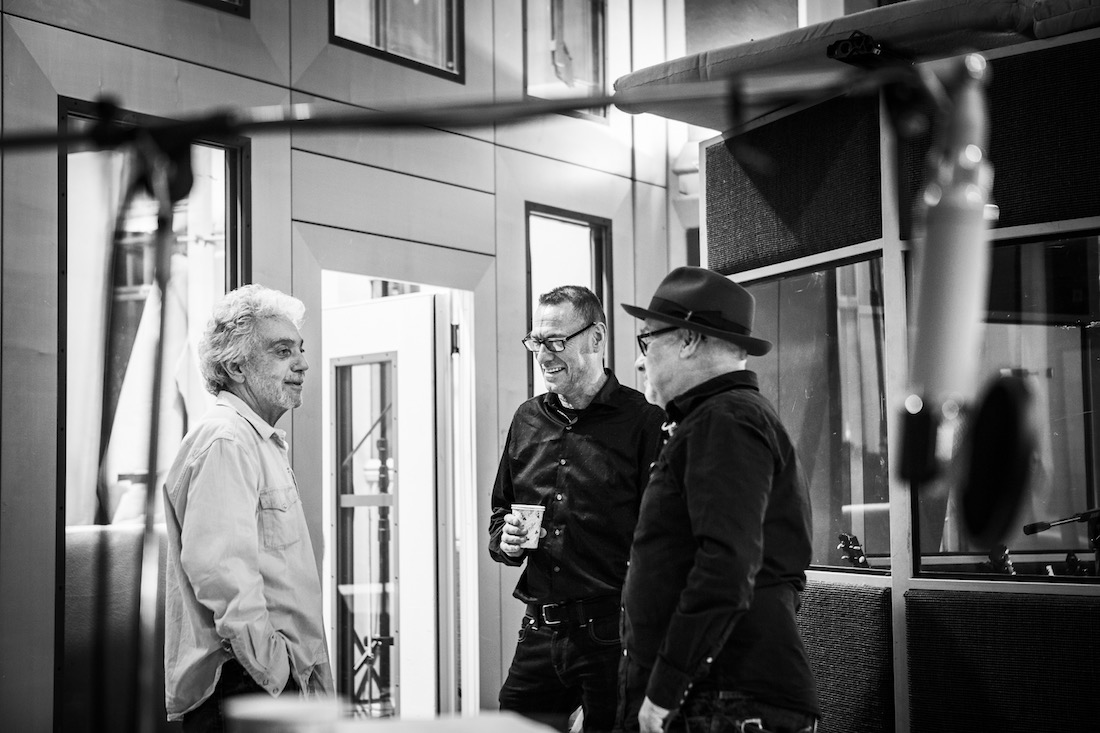Paul Carrack with drummer Steve Gadd and bassist Jeremy Meek at Air Studios