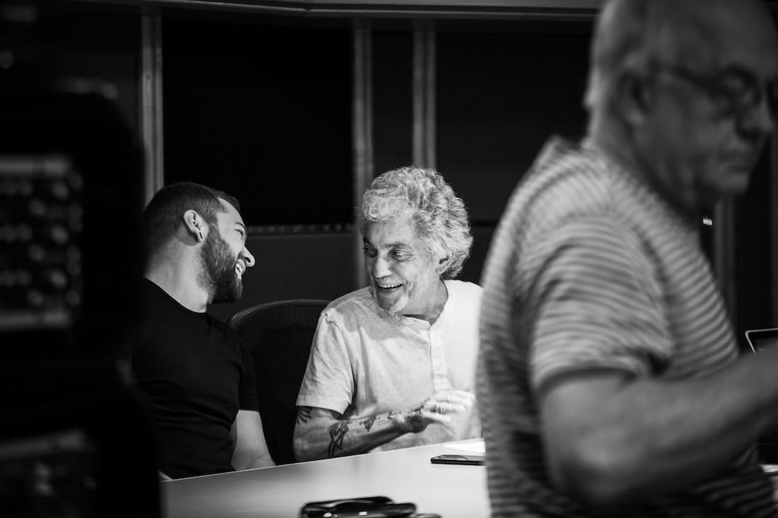 Drummers Jack Carrack and Steve Gadd recording with Paul Carrack at Air Studios