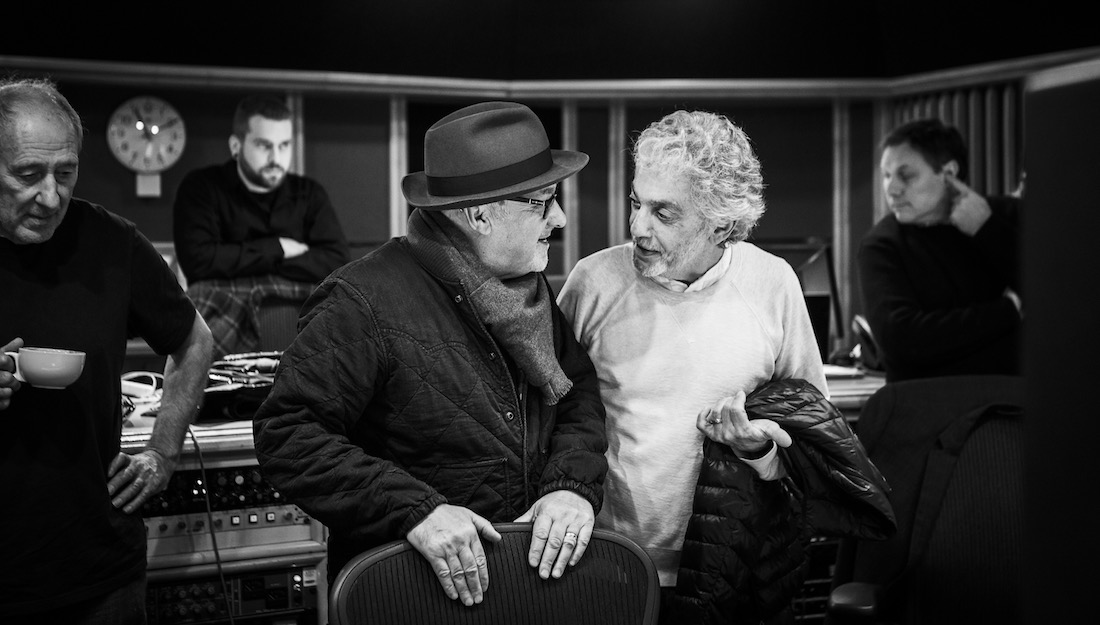 Paul Carrack and Steve Gadd at Air Studios