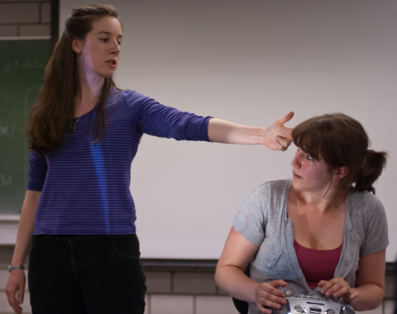 The Translator's Dilemma - A lecturer begins to unravel mid-lesson when she discovers that she must deliver a case study about asbestos -- the deadly mineral that killed her own family.This audience-interactive show premiered at the Edinburgh Festival Fringe, then invited to the Theaterszene Europa Festival in Cologne, Germany.