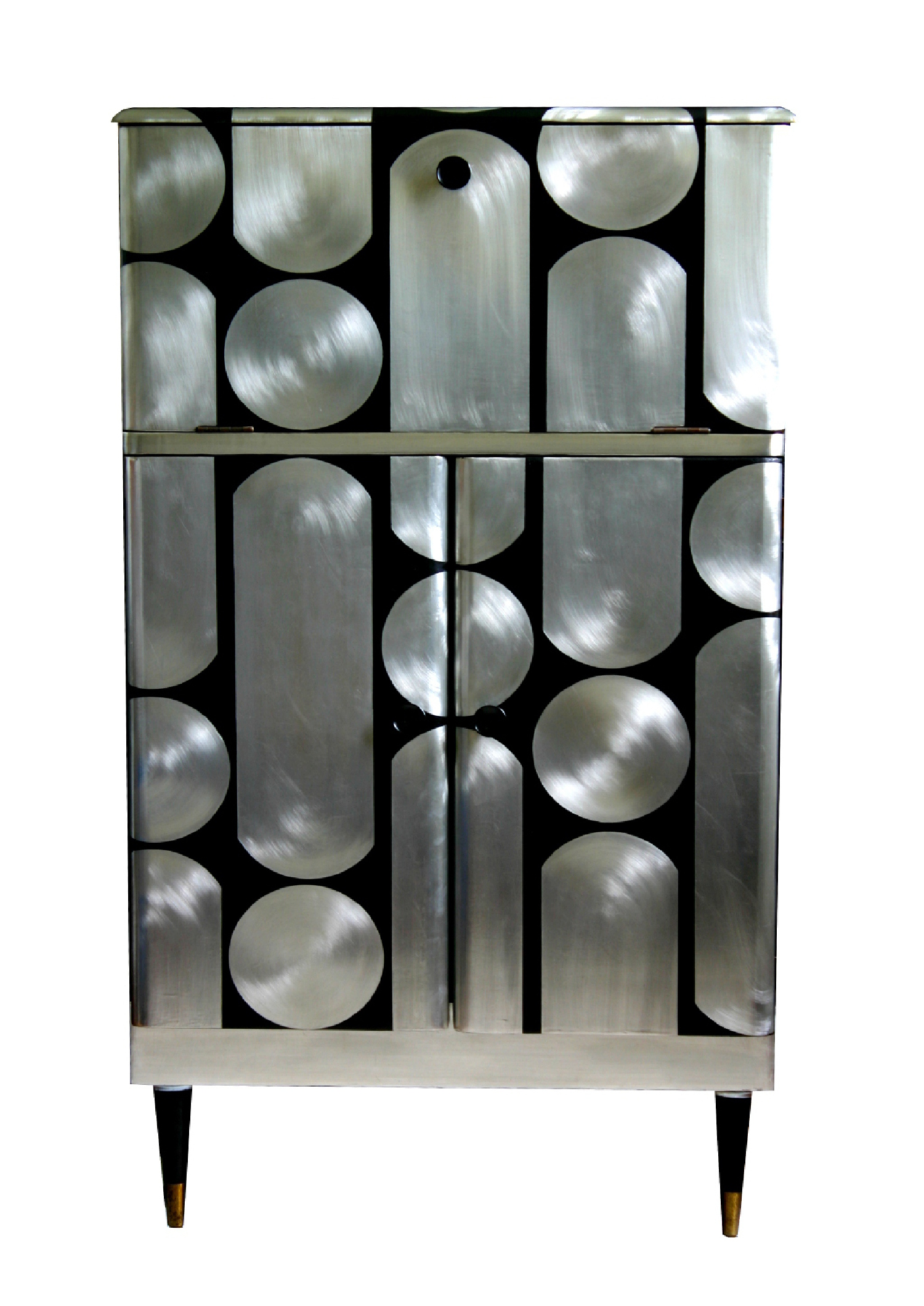 Button-up cocktail cabinet