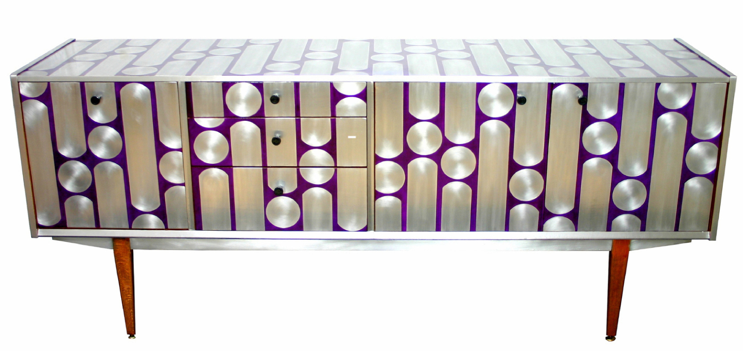 'Button-up' Sideboard-purple