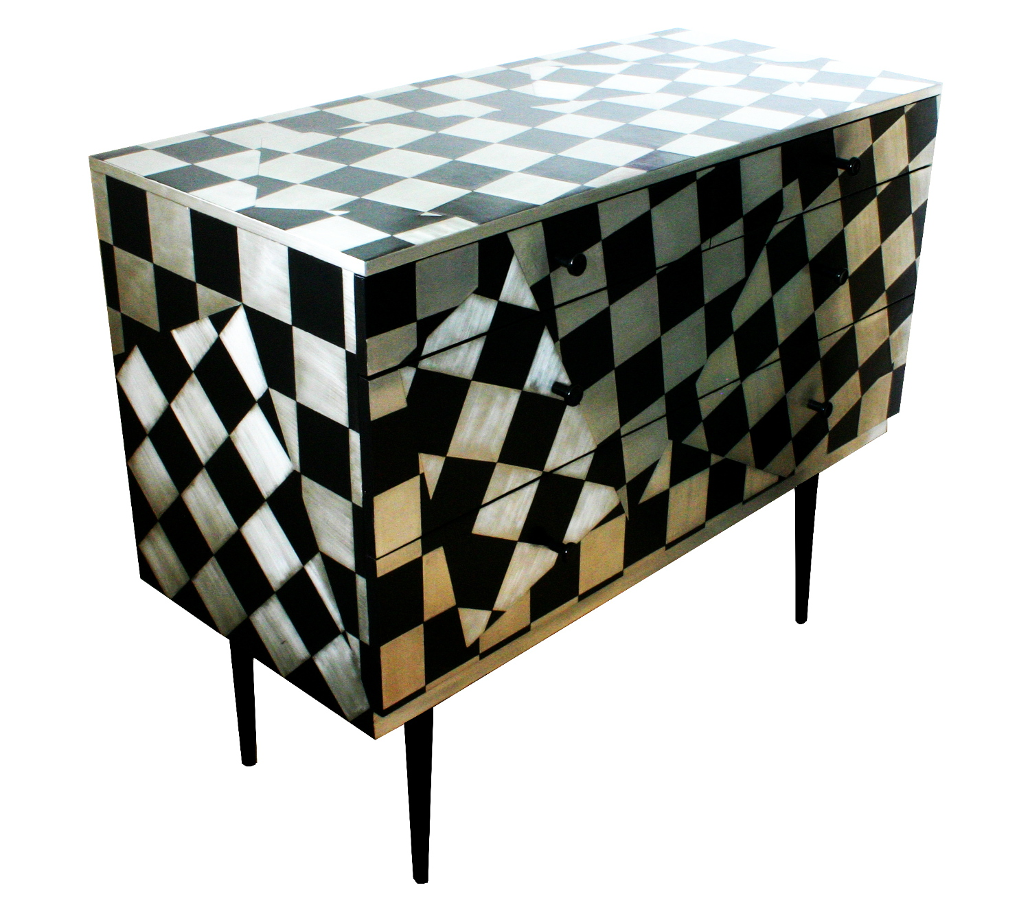 'Checkometry' Chest of drawers