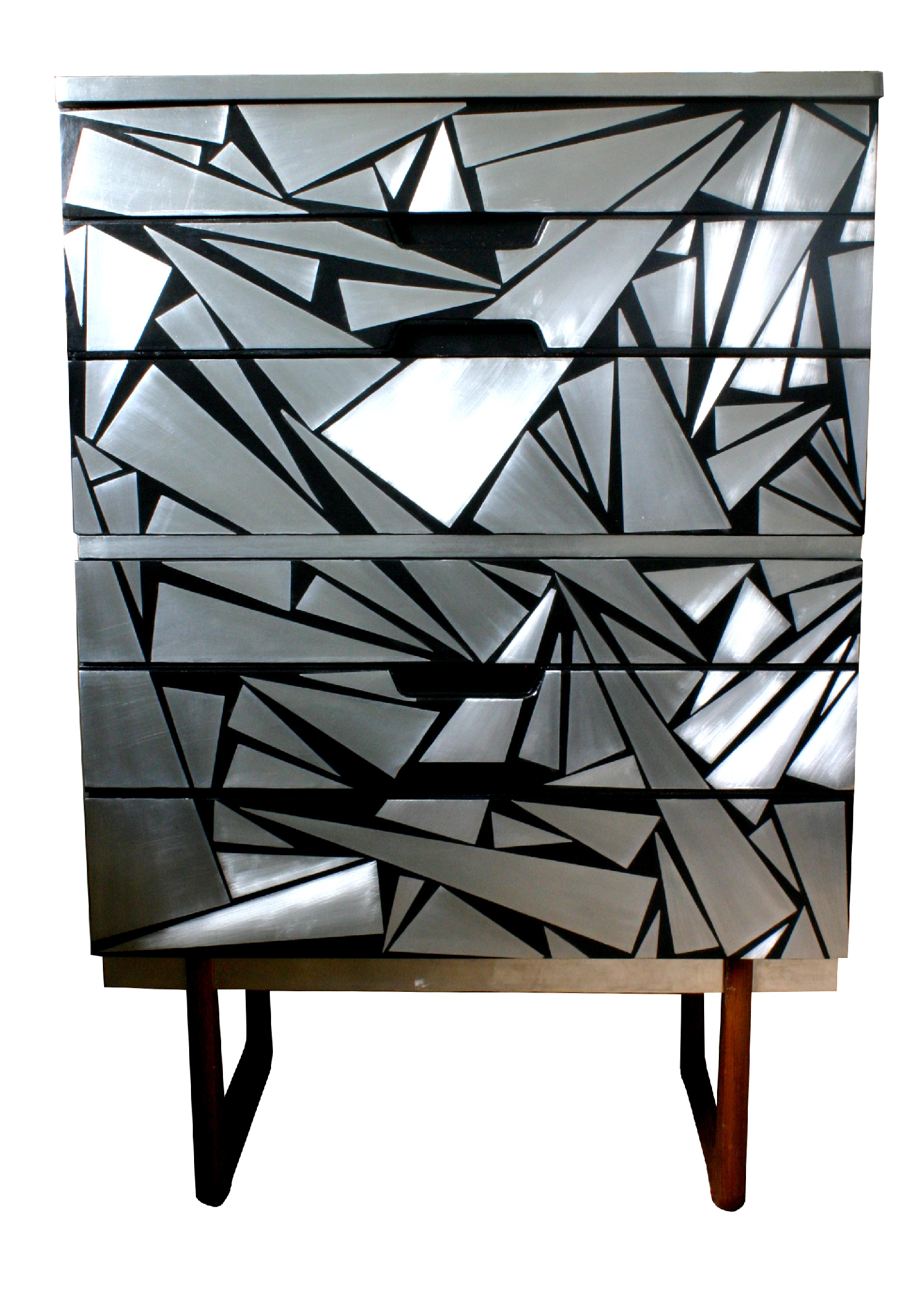 'Tri-ometry' Chest of drawers