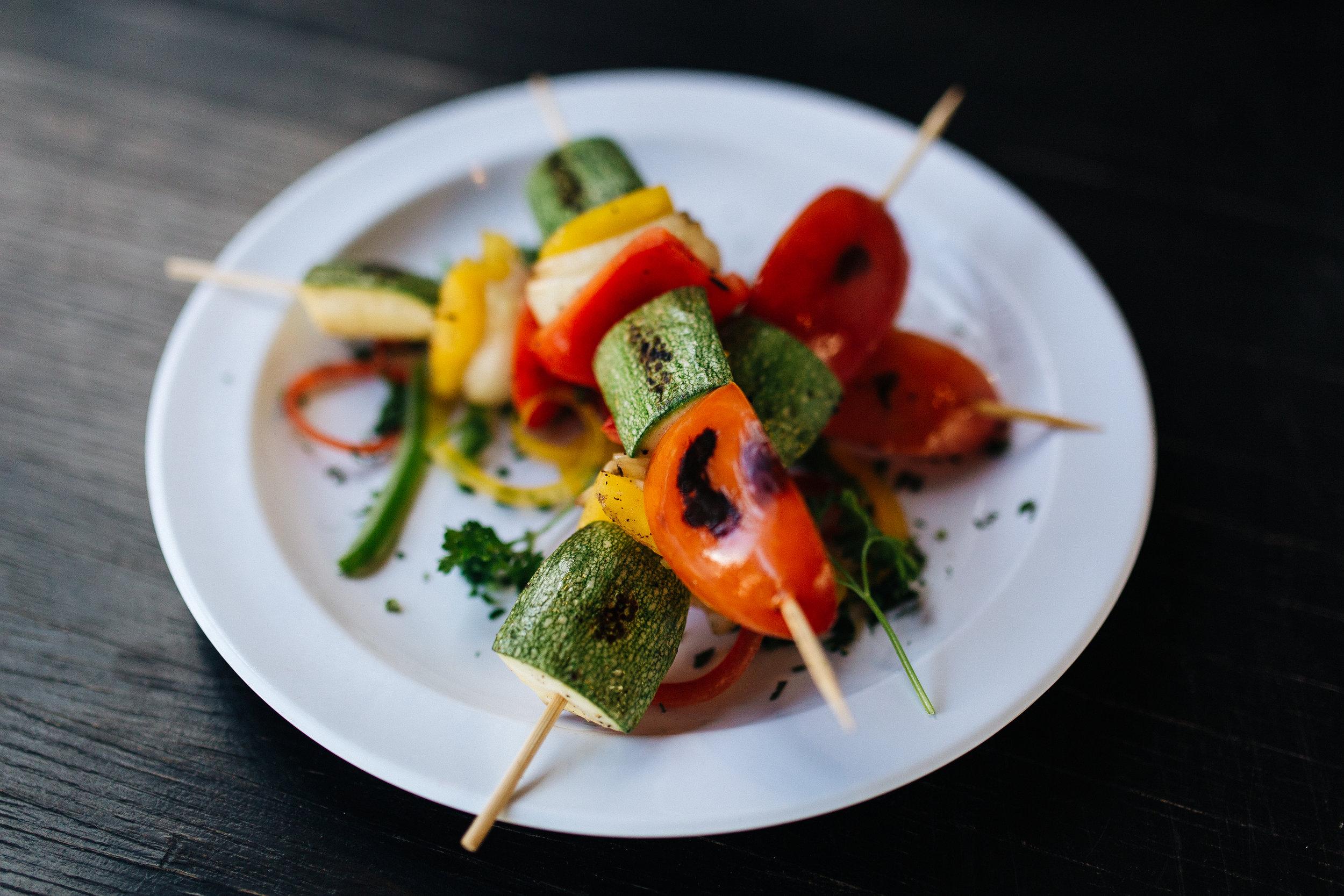 العشاء 1 - شيش الخضروات المشوية
