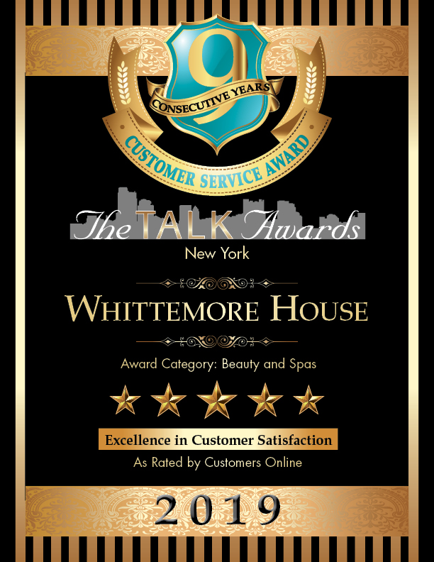 - We love our clients!Whittemore House Salon is proud to receive Five Stars in Customer Satisfaction for nine consecutive years. Many thanks to The Talk Awards NYC!