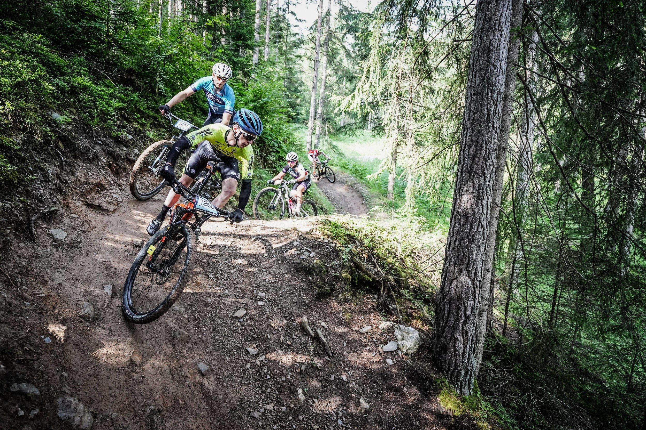 The author descending the free ride trails  ©sportograf