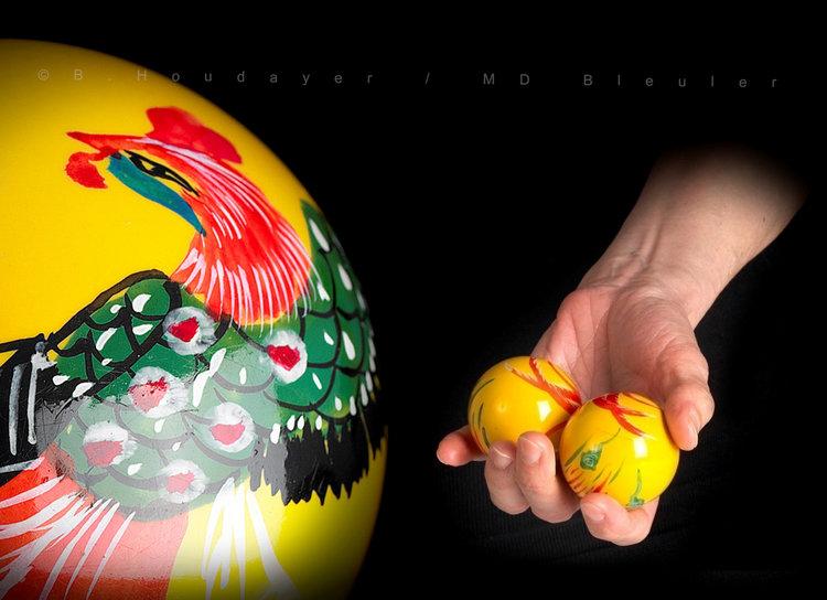 Boules chinoises de santé ©photo Bruno Houdayer
