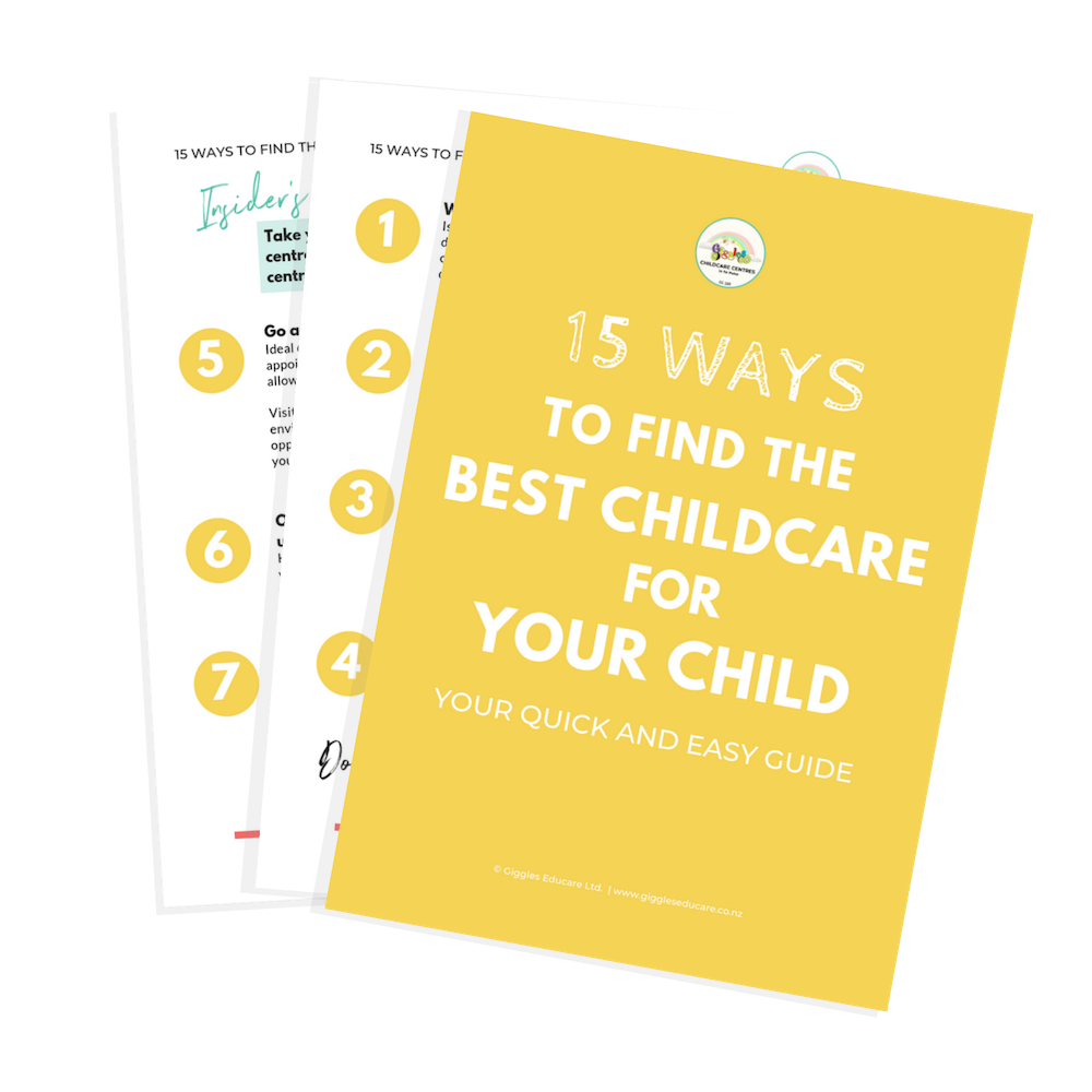 Giggles freebie '15 Ways To Find The Best Childcare For Your Child' - Your Quick and Easy Guide.