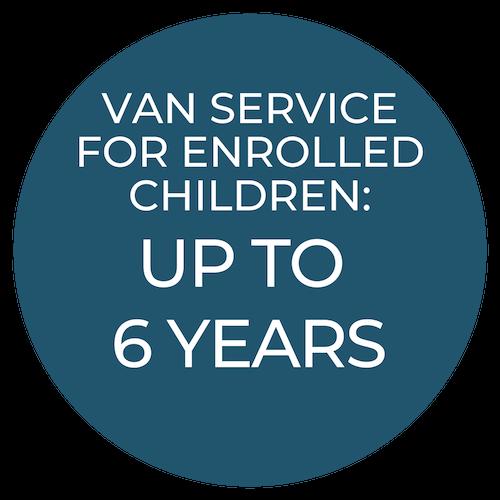 Giggles van services is for children enrolled at Giggles.