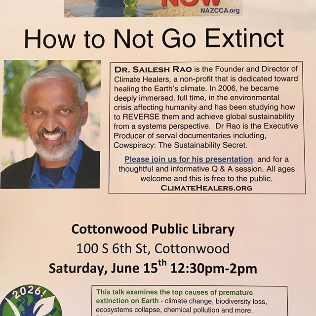Join us next Saturday! #climatechange #gogreen #CottonwoodAZ