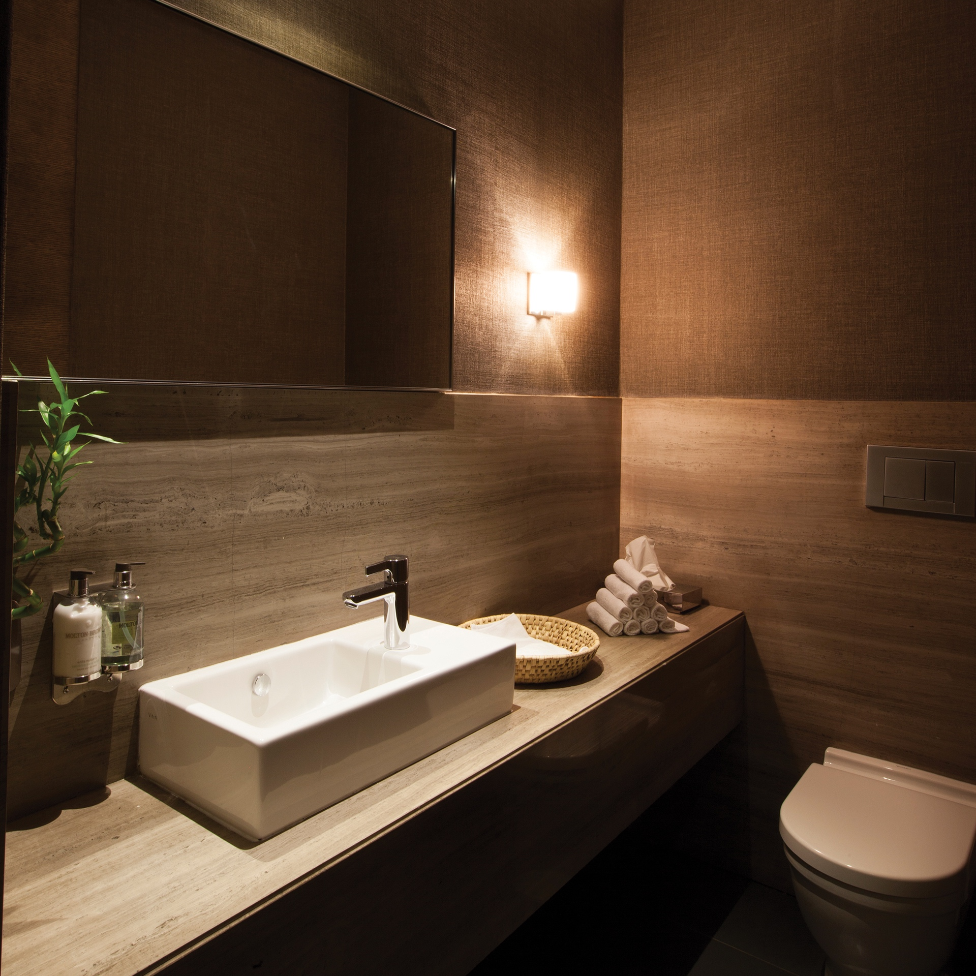Luxurious washrooms - Refresh in our private unisex washroom facilities housing a full marble vanity area, spa-like showers, indulgently soft cotton hand towels and luxurious soaps and creams. Sleek, wall-mounted storage compartments allow for safeguarding of valuables during your stay.