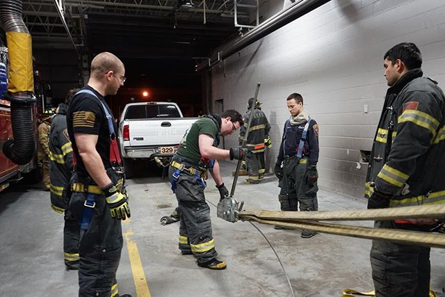 While some people go out on a Thursday night, our dedicated Firefighters spend their time training. Seen here, our Firefighters are being taught how to utilize a grip hoist which is essentially a mechanical winch capable of lifting, dragging and pulling extreme weights. Just another tool in our toolbox #volunteerfirefighter #lcfd #firerescue