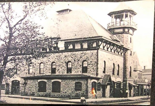 #tbt to an undated photo of LCFD. A fun fact about the original building: the stones used to build the original LCFD building which stands today, used stones excavated from the original Manhattan Subway project.