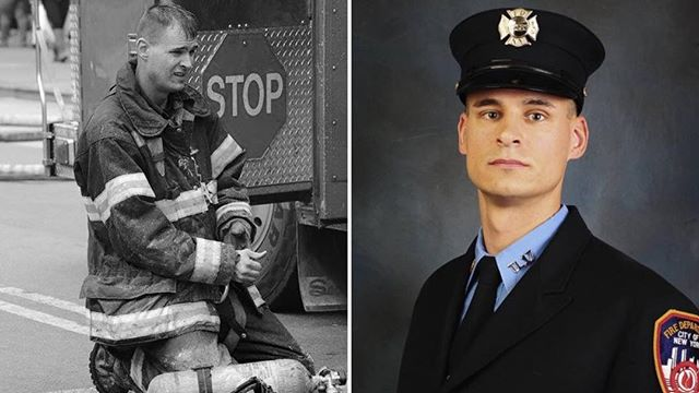Our thoughts and prayers go out to the friends and family of @fdny and @kentland33 Firefighter Christopher Slutman who was killed this past Monday in Afghanistan by a roadside car bomb while serving as a @marines soldier. FF Slutman is survived by his wife and 3 young daughters.