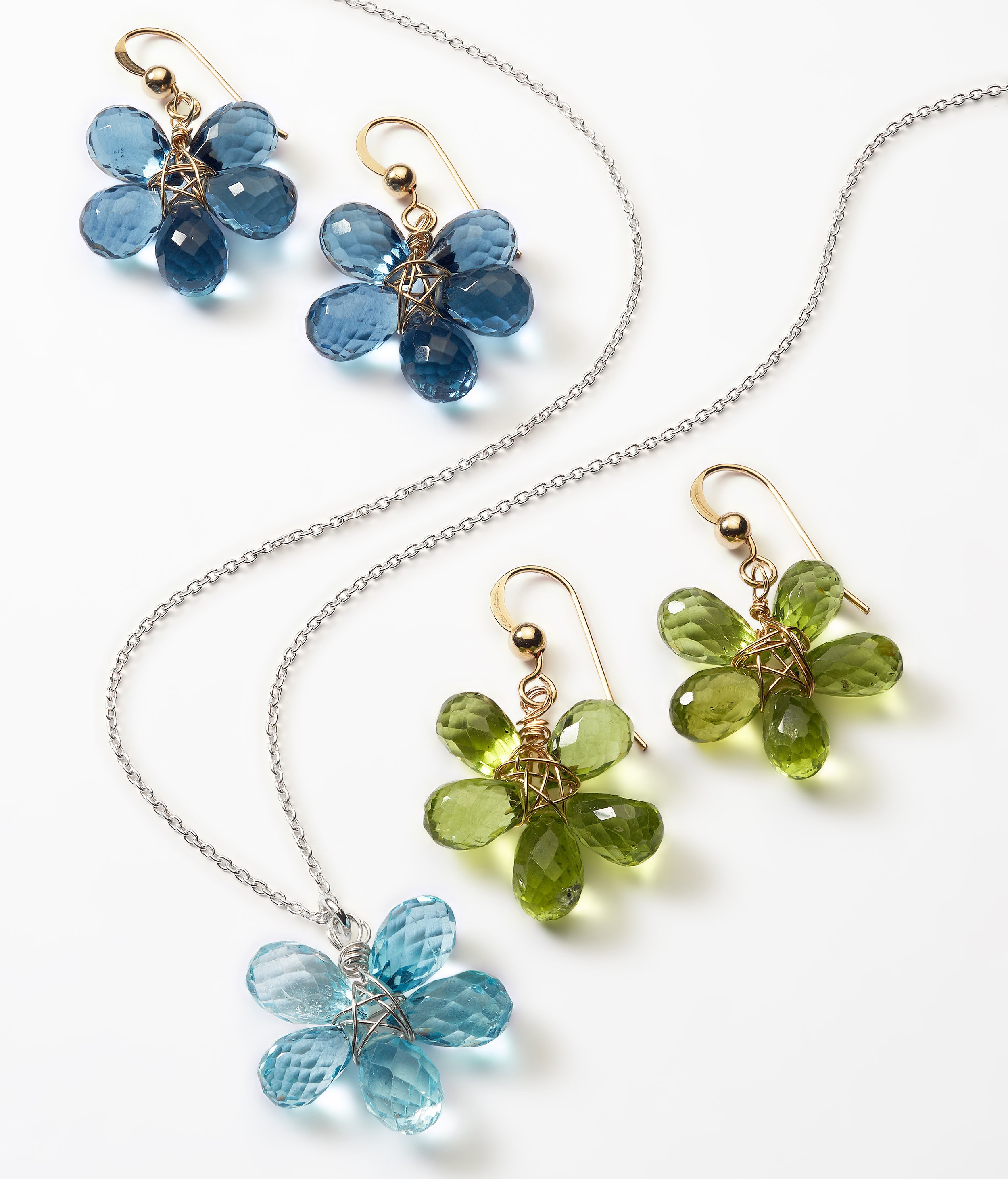 Gemstone Flower Jewelry