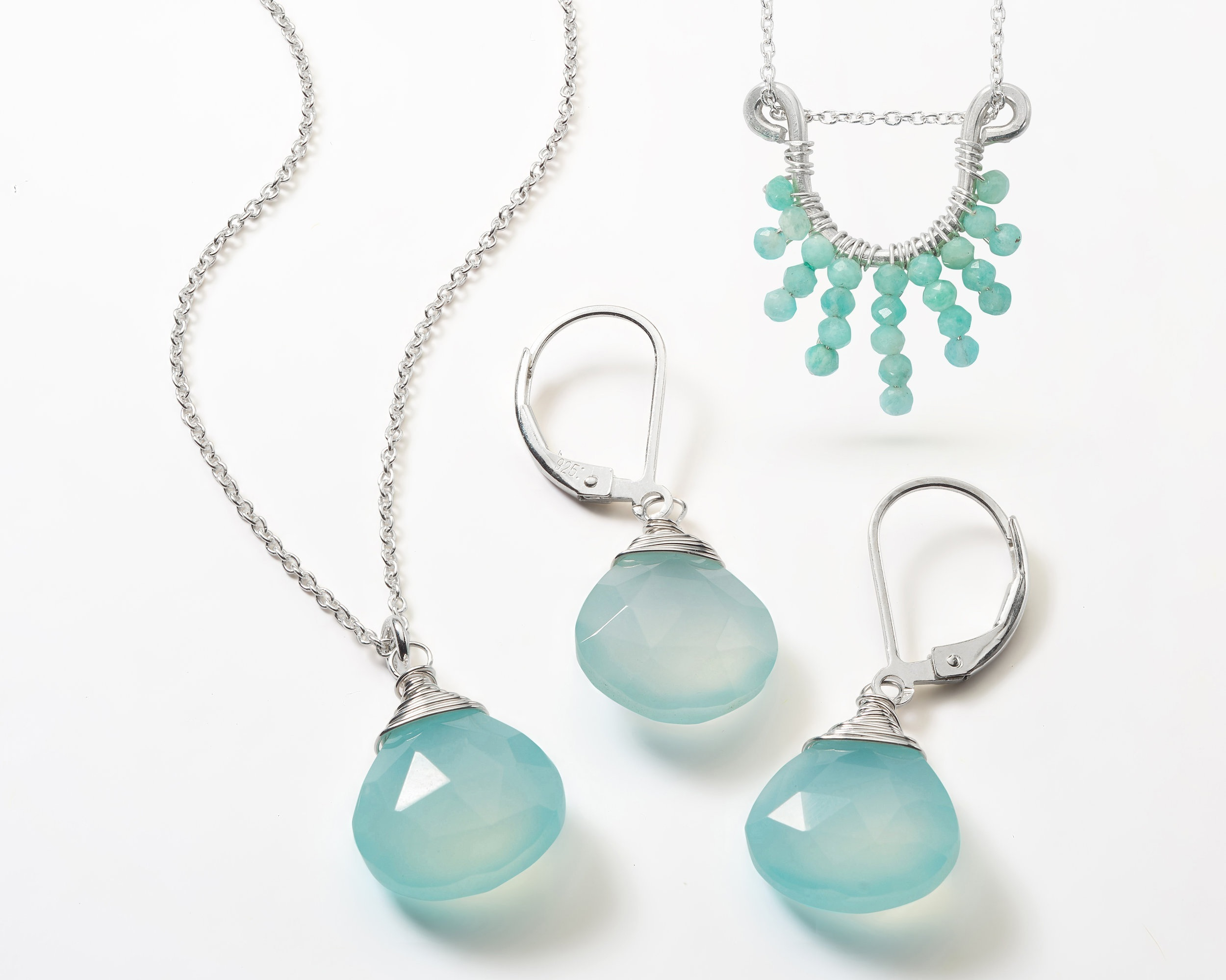 Chalcedony and Amazonite Jewelry