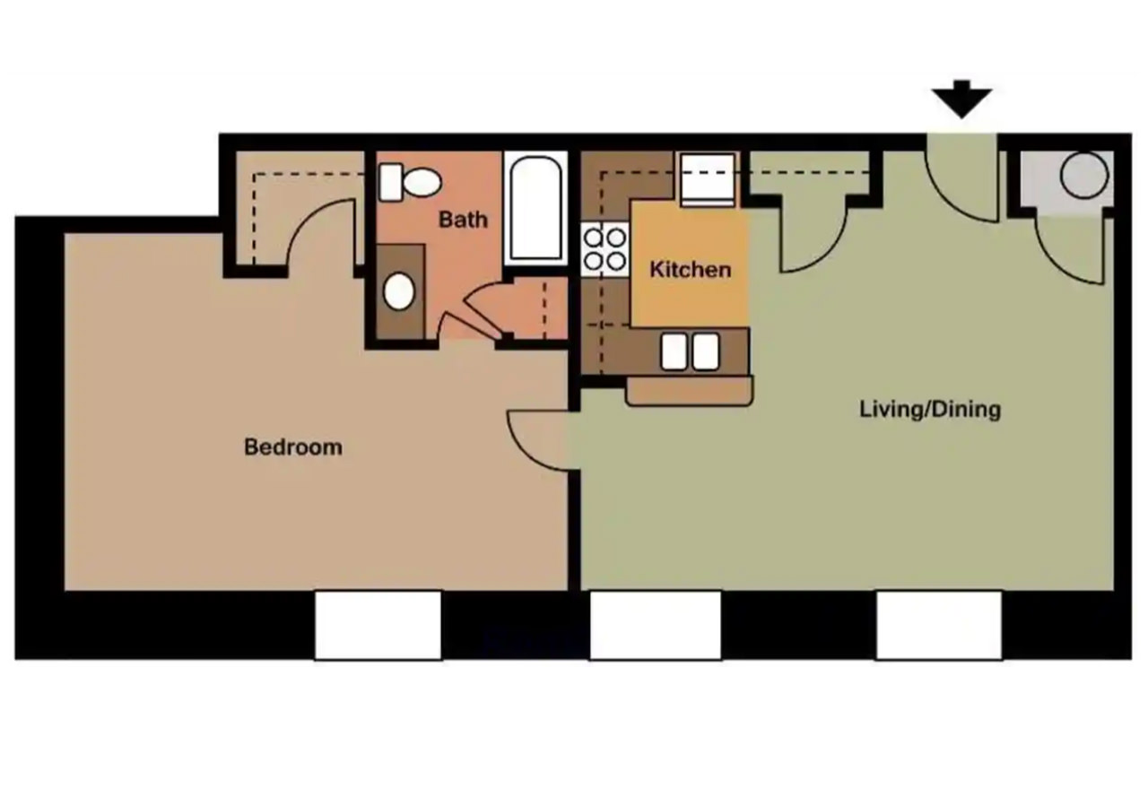 The Buckingham - 825 Sq. Ft.1 Bedroom1 Bathroom