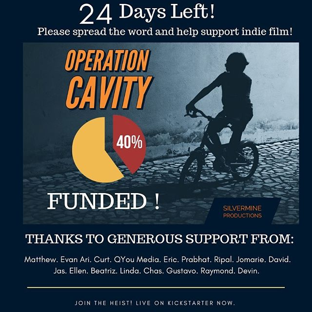 We're moving full-steam ahead with Operation Cavity! 40% backed with 24 days remaining. Check out our awesome rewards and let's make something epic! Link in bio.