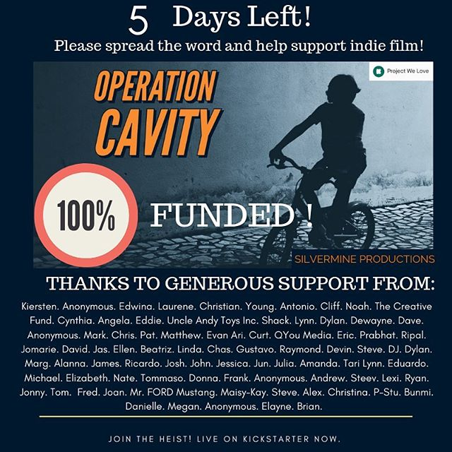 We DID it! I can't thank you all enough for your generous contributions in bringing this project to life. With five days left, we've reached our goal! WOOOOOOOOOOO! We're making a movie! The support I've received from around the world is truly humbling and I can't wait to make this film!  For the final few days, we're setting a reach goal of $21k. The extra $3k will allow us to further develop and perfect the production -- letting us upgrade our camera package, and putting more money into locations which will increase the production value. Every bit of extra funding will help us further execute the level of detail we want to bring to the film.  I'm so grateful to all of you for your support. We Make Mountains Move. This film will be a creation of a community of people.  If you haven't already, check out our campaign in our bio!