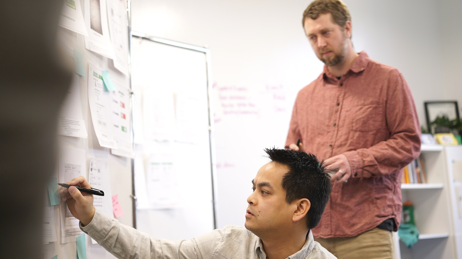 Branch product manager and developer scoring our concepts.