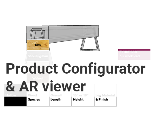 Product Configuration and Augmented Reality Prototype - Skills and Tools:Presentation Design, SketchUp, Augmented Reality Viewers, Rhino, Sketch, and InVision