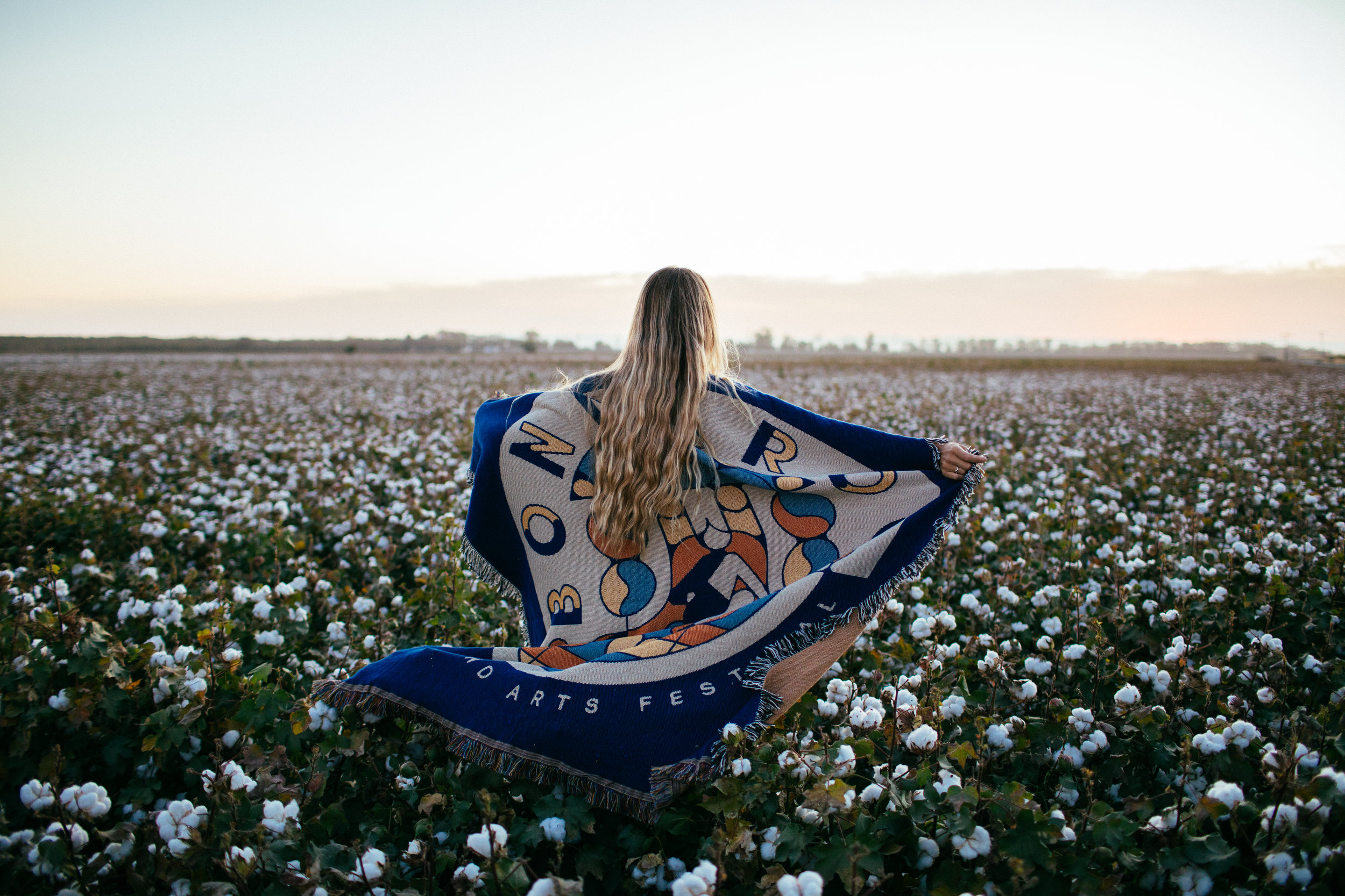 cotton field blanket