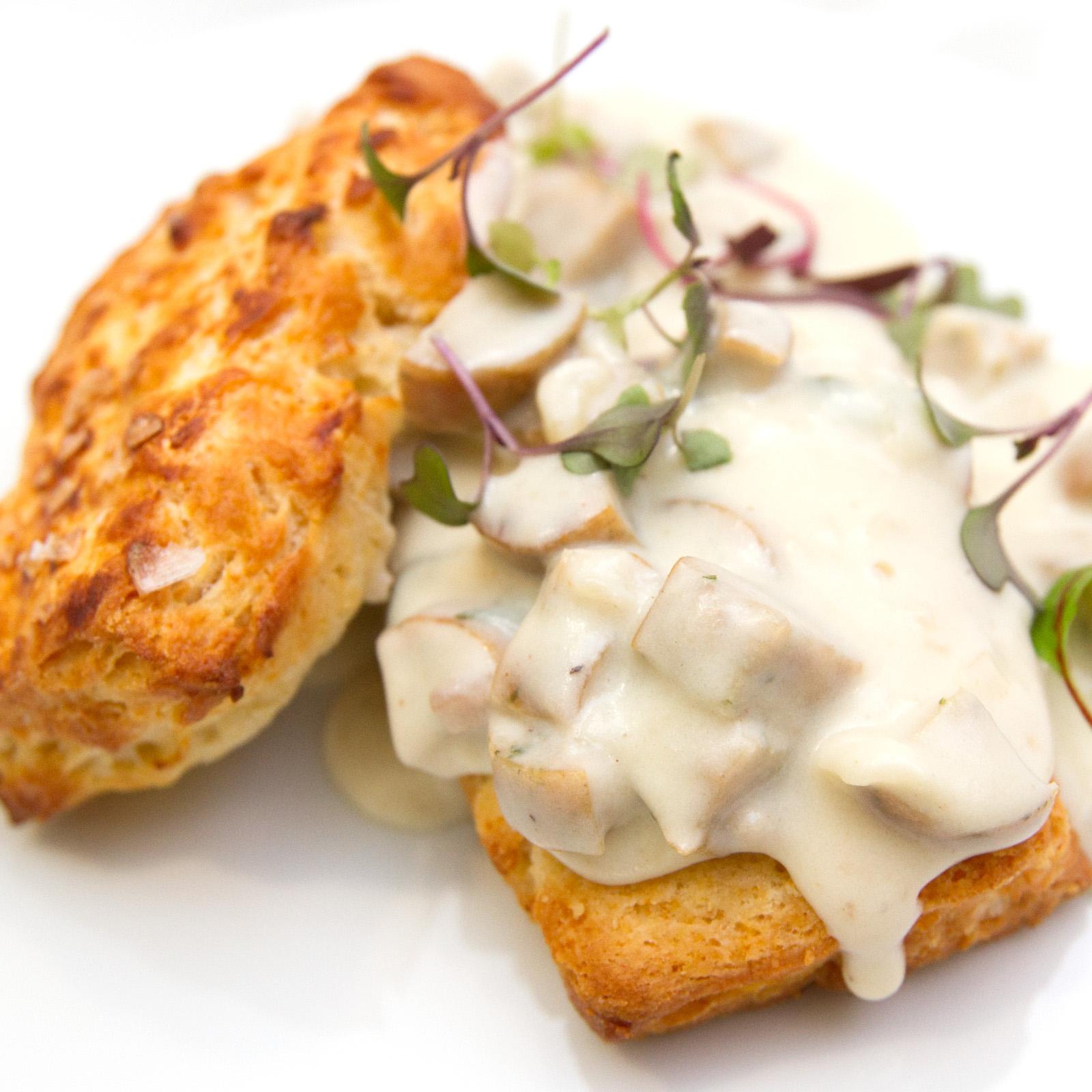 Buttermilk Biscuits and Chicken Sausage Gravy