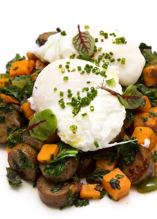 Sausage, Sweet Potato and Kale Breakfast Hash
