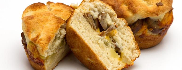 Chicken Sausage Stuffed Biscuits