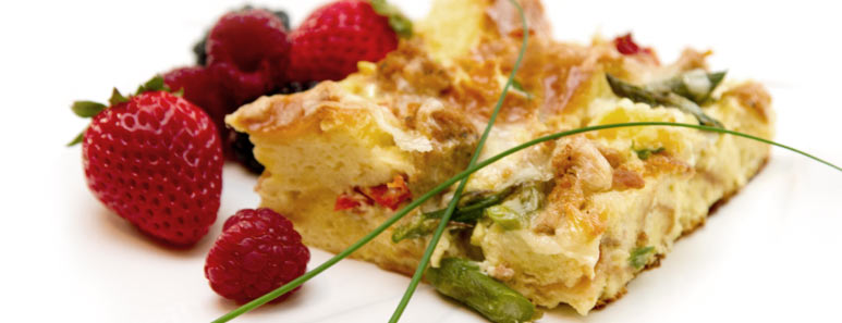 Chicken and Asparagus Strata